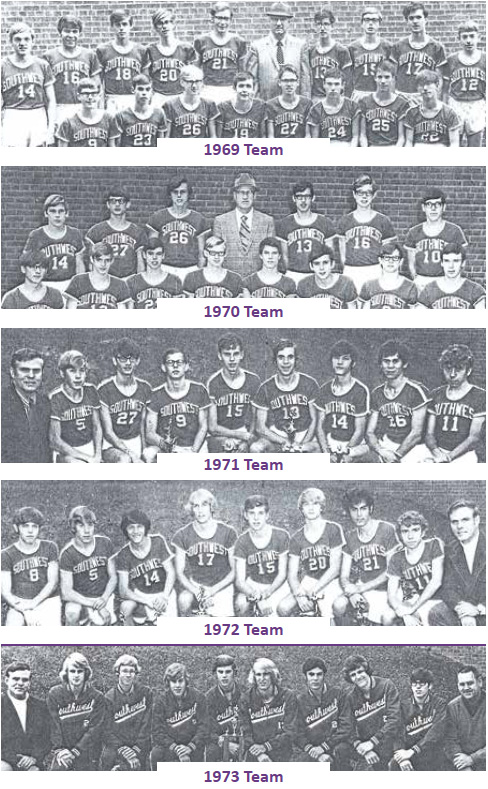1969 - 1973 Cross Country Teams
